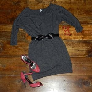 Dark Gray Dress 3/4 Sleeve *EUC*